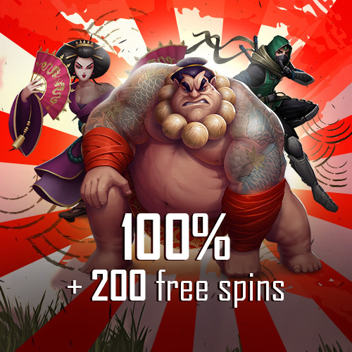 Package 100% + 200 free spins