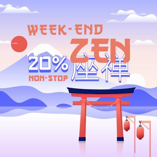 20% tout le week-end !
