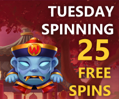 The Tuesday's 25 Free Spins