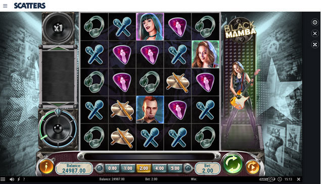 Play Black Mamba Slot by NetEnt at Scatters Casino