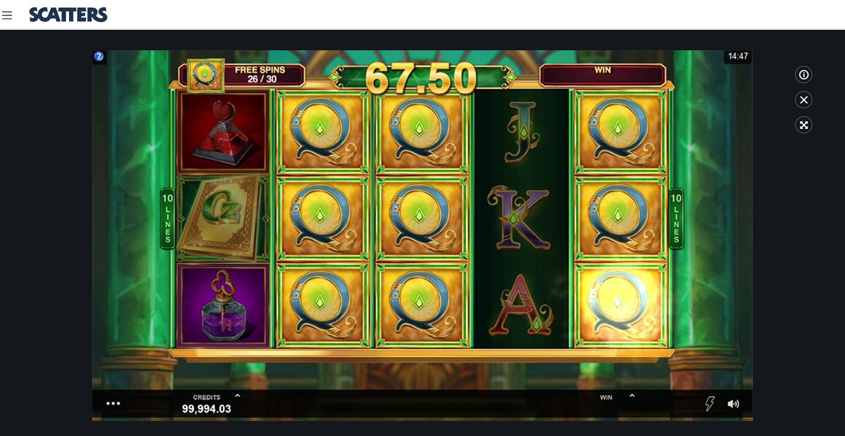 Book of Oz Online Slot - Scatters Slots Casino