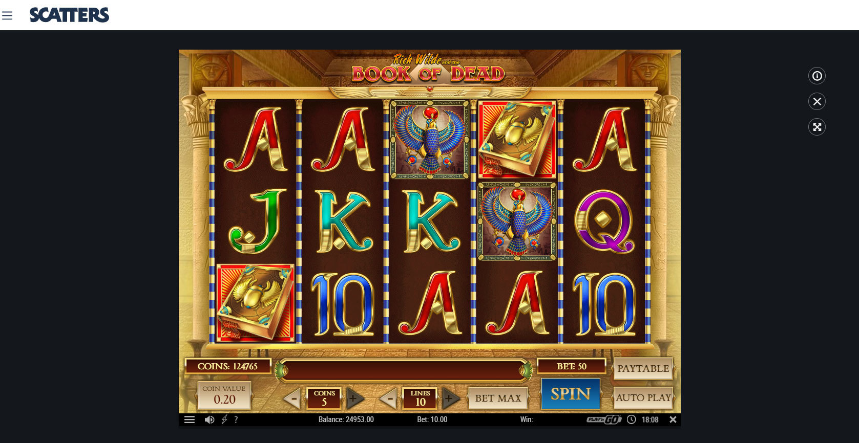 Play Book of Dead Slot by Play'n Go Free or Real Money at Scatters Casino