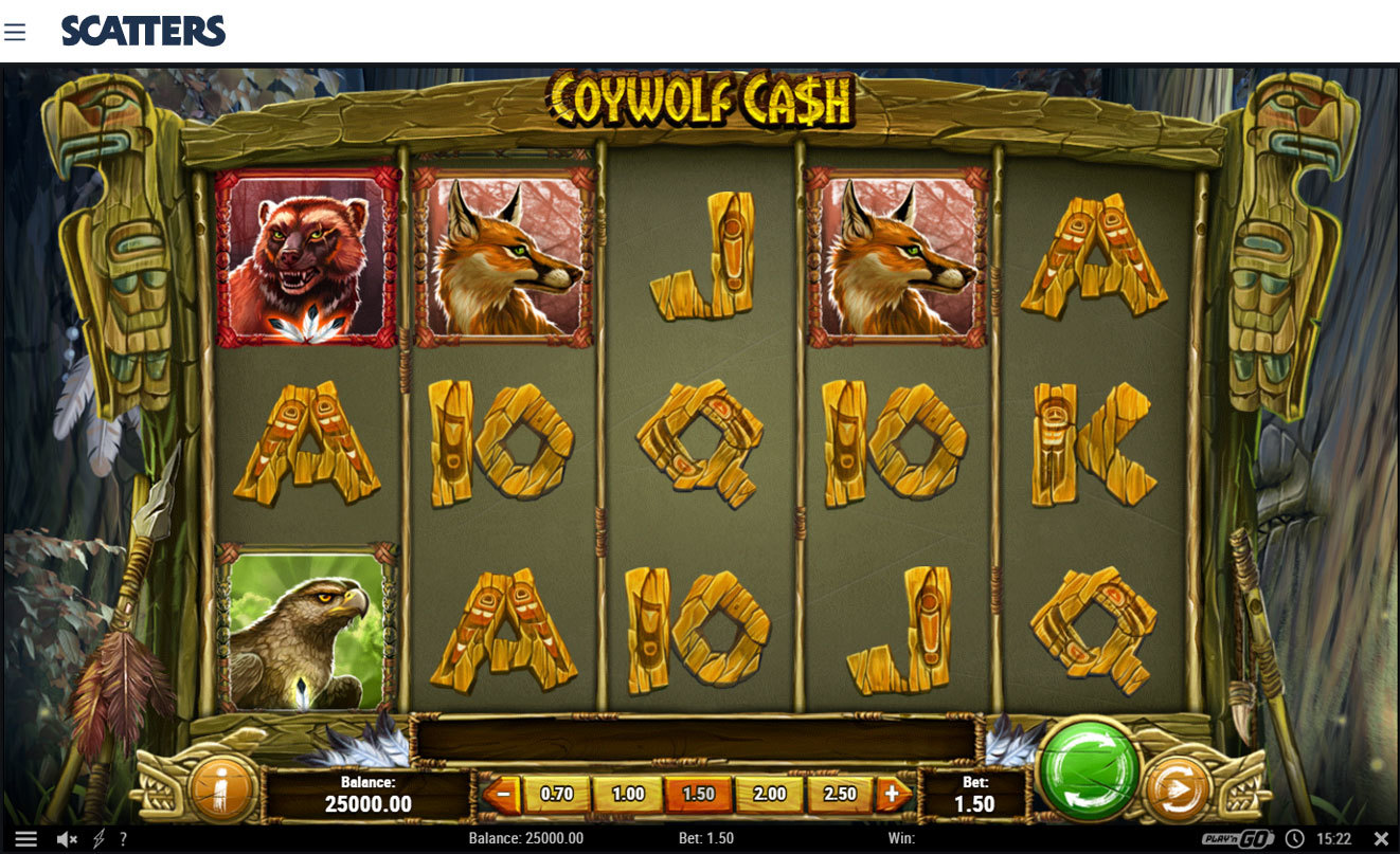 Coywolf Cash Slot by Playngo - Scatters Slots Casino