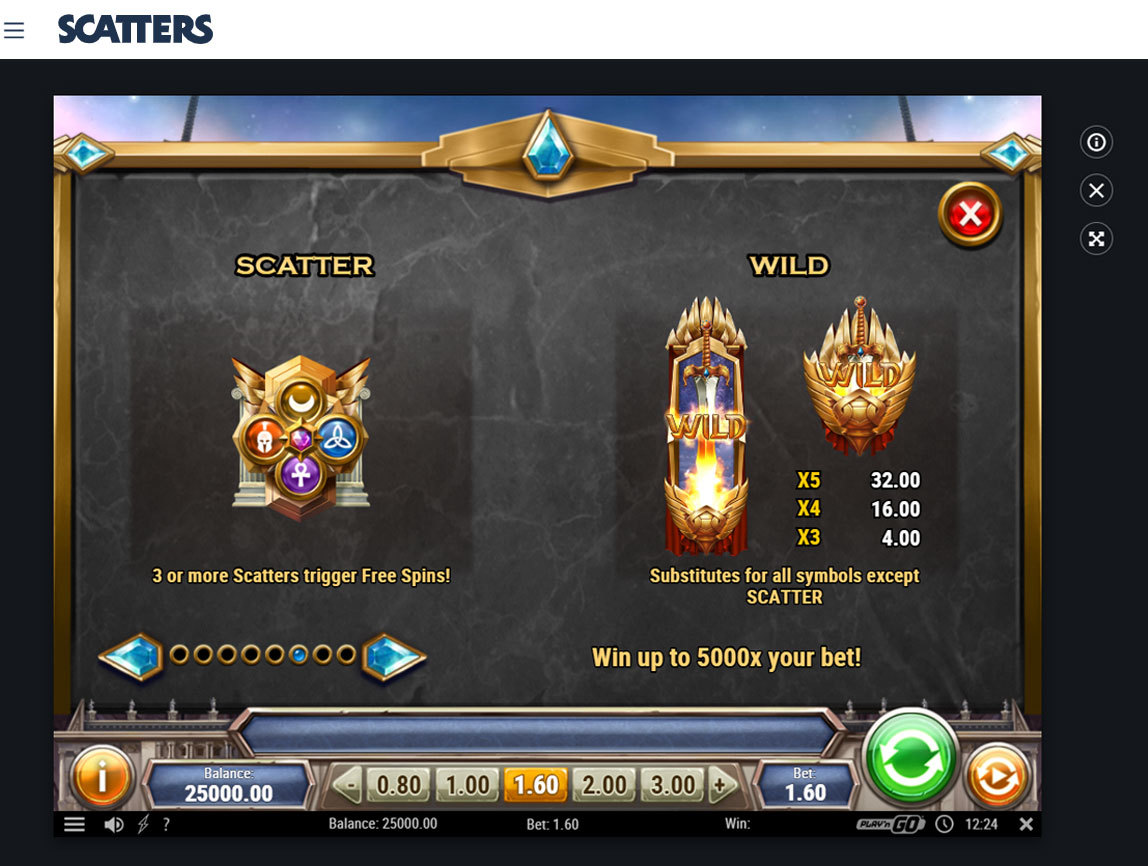 Divine Showdown Online Slot - Scatters Online Casino