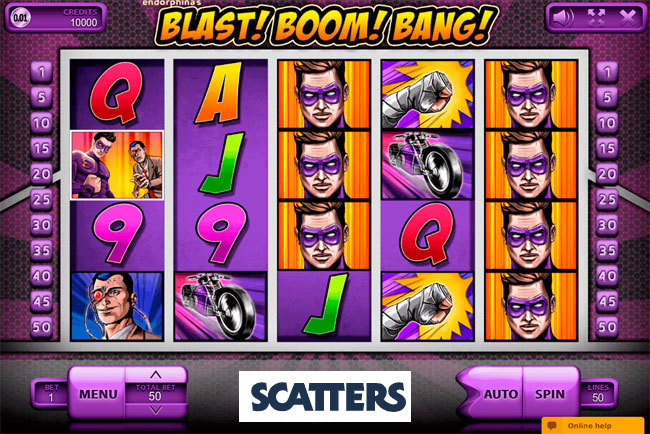 Blast Boom Bang Online Slot by Endorphina - Scatters Casino