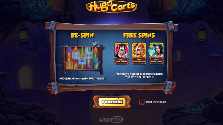 Hugo Carts Slot - Hugolina symbol multipliers