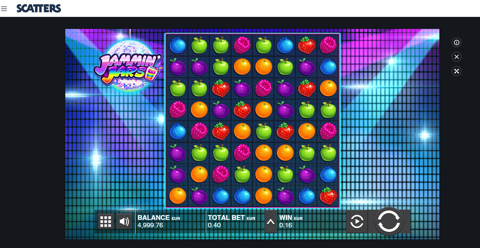 Play Jammin Jars by Push Gaming for Free or Real Money at Scatters Casino