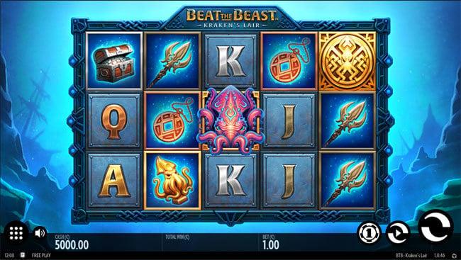 Kraken's Lair Online Slot by Thunderkick - Scatters Casino