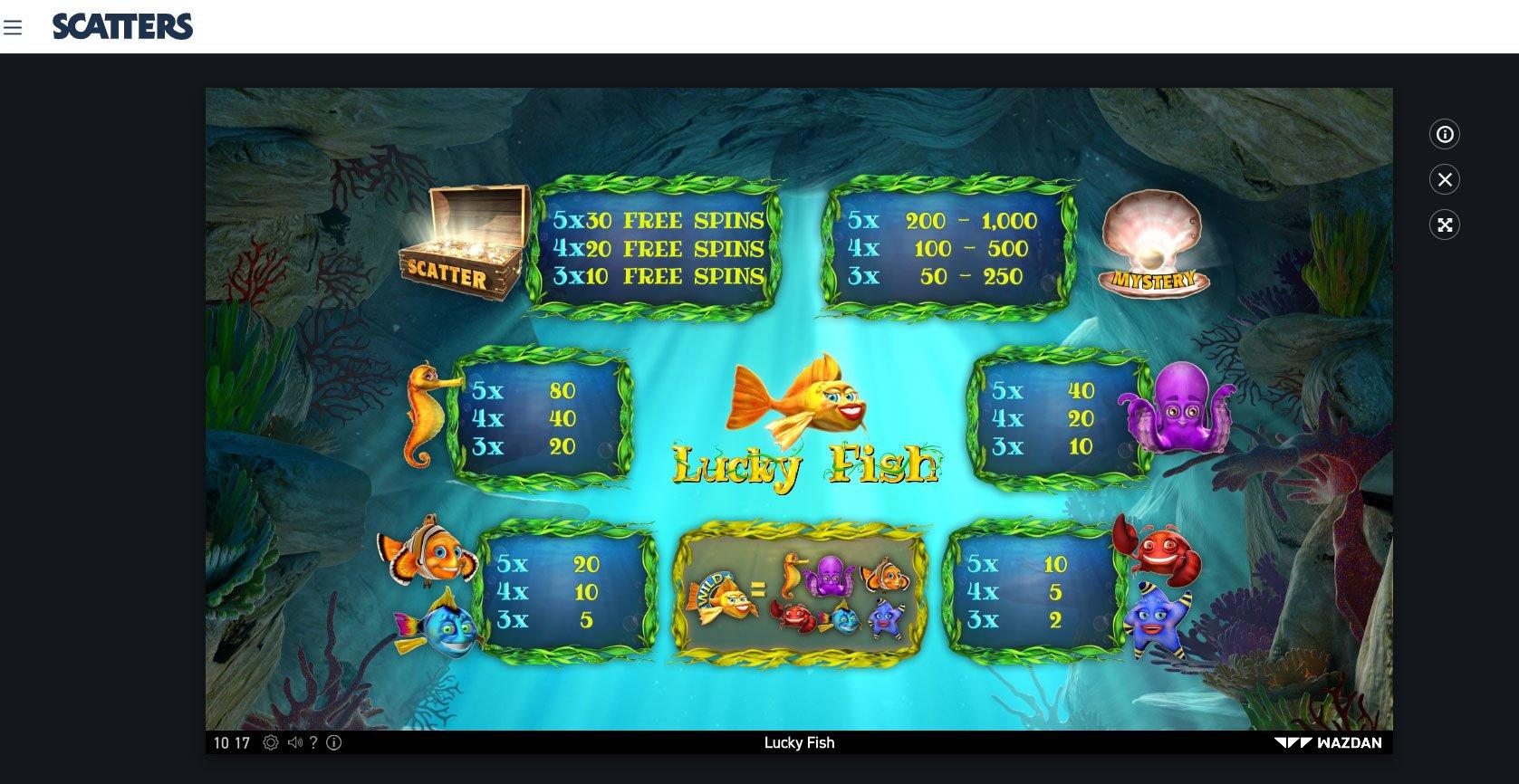 Lucky Fish online slot by Wazdan - Scatters Online Casino