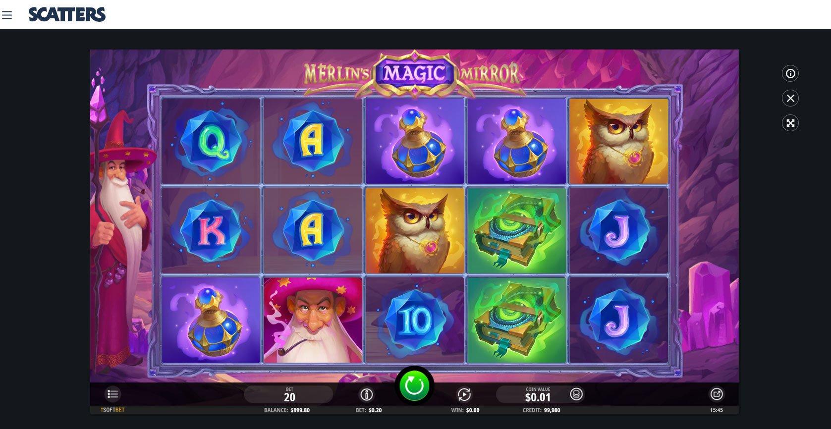 Merlin's Magic Mirror Online Slot - Scatters Online Casino