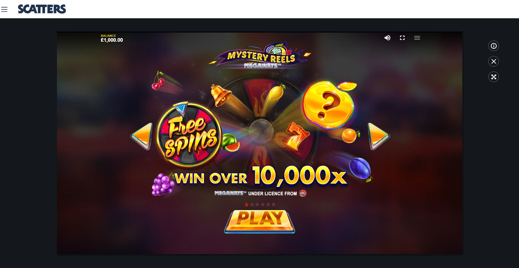 Play Mystery Reels Megaways by BTG for Free or Real Money at Scatters Casino