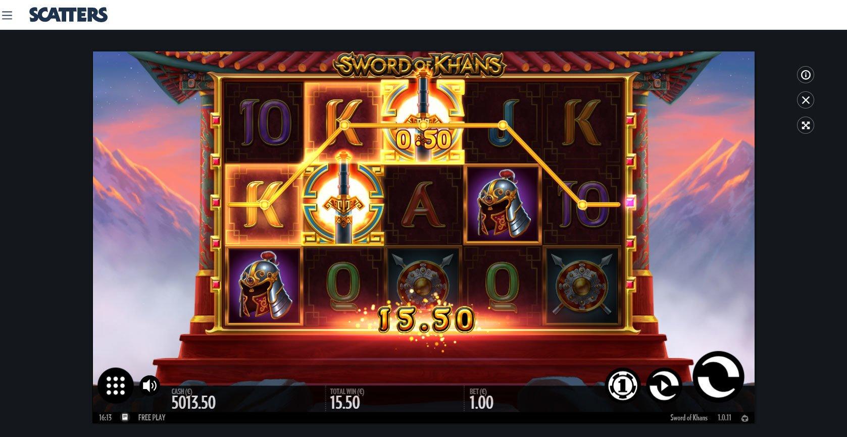 Sword of Khan Online Slot - Scatters Online Casino