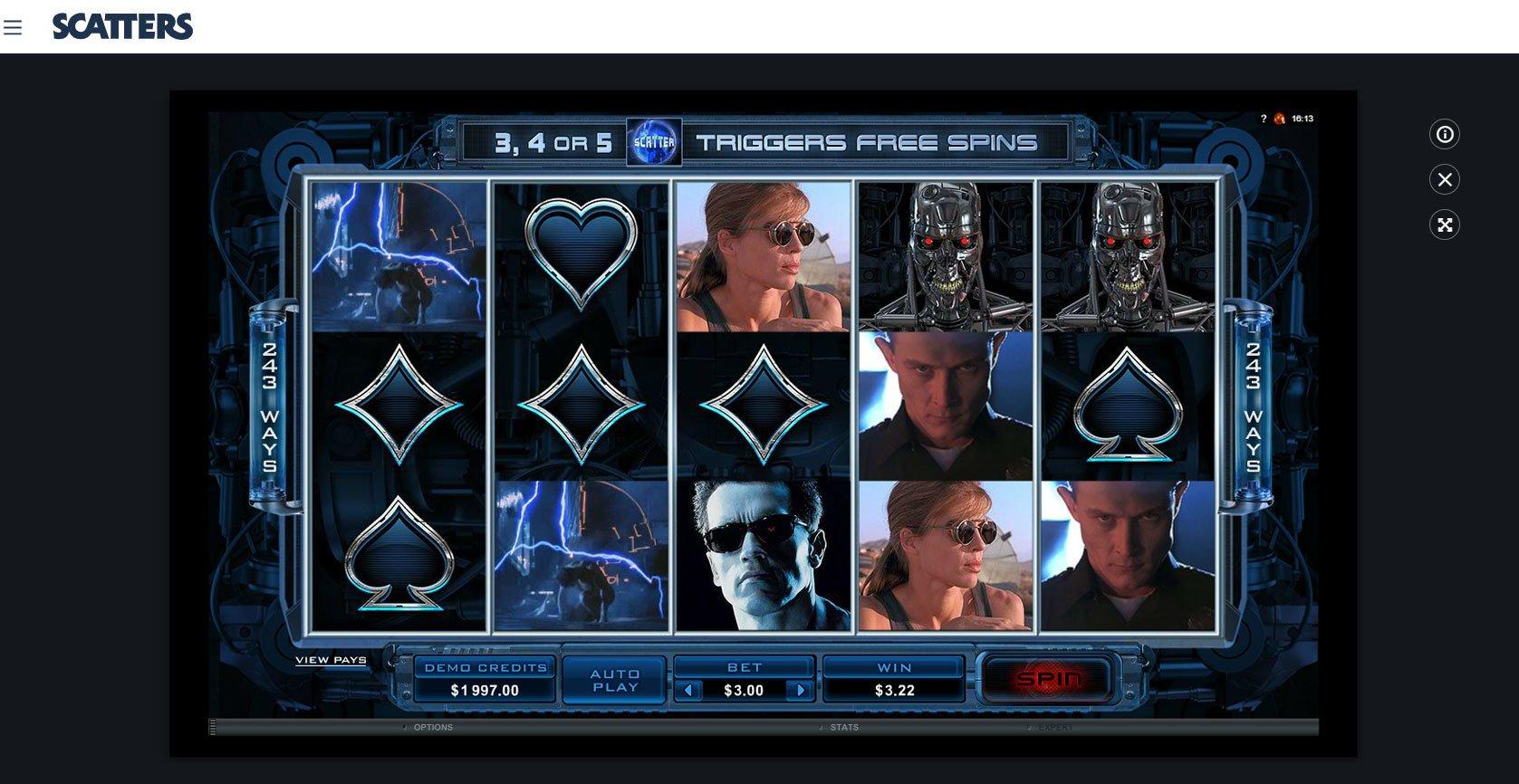 Terminator 2 Online Slot - Scatters Slots Casino