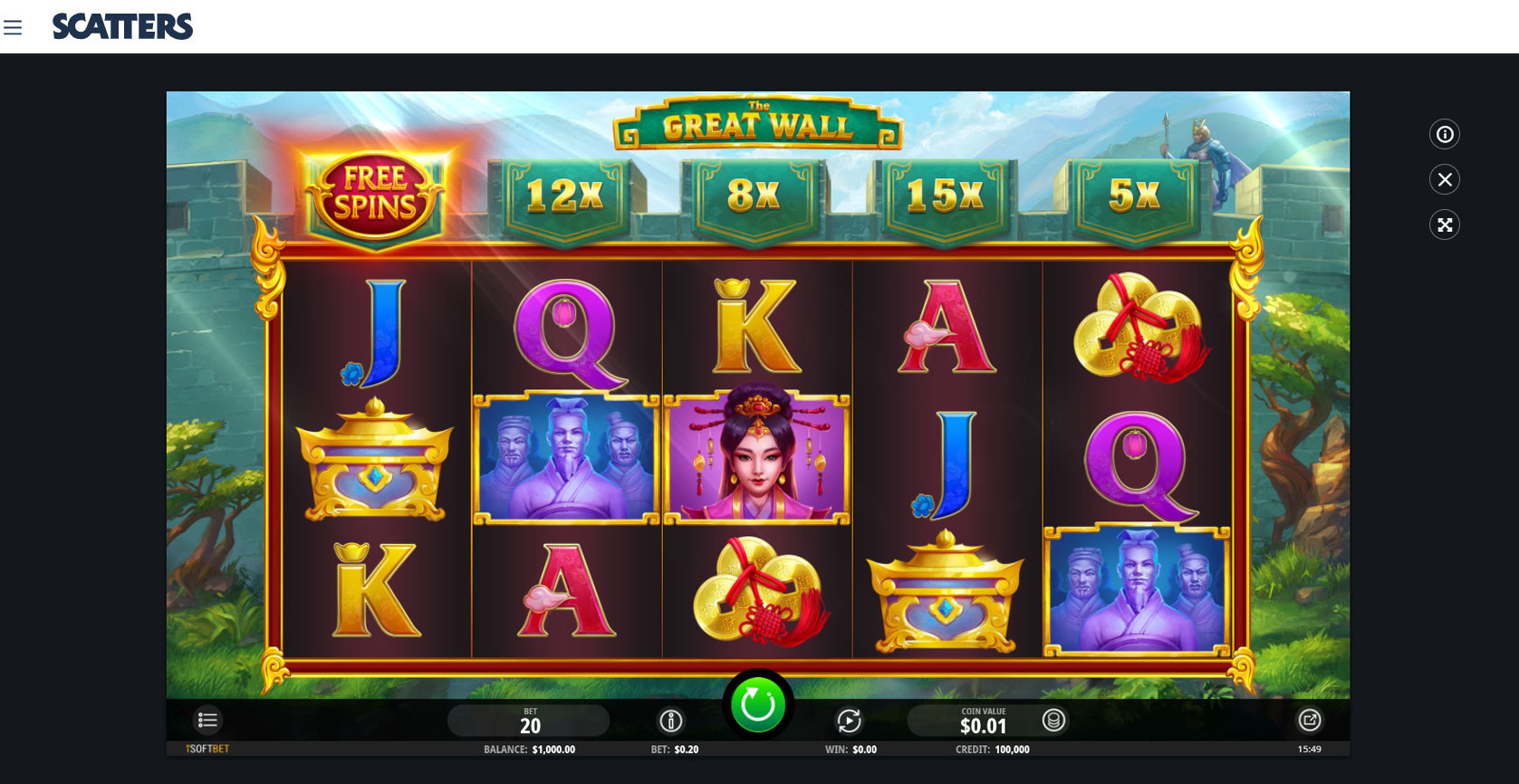 The Great Wall Slot - Scatters Online Casino