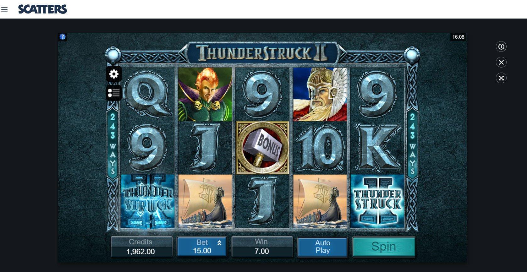 Thunderstruck II Online Slot - Scatters Slots Casino