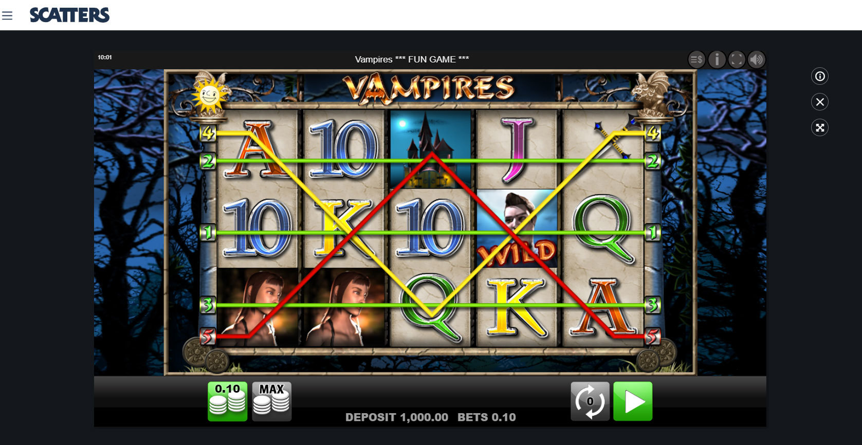 Play Vampires Slot by Merkur Free or Real Money at Scatters Casino