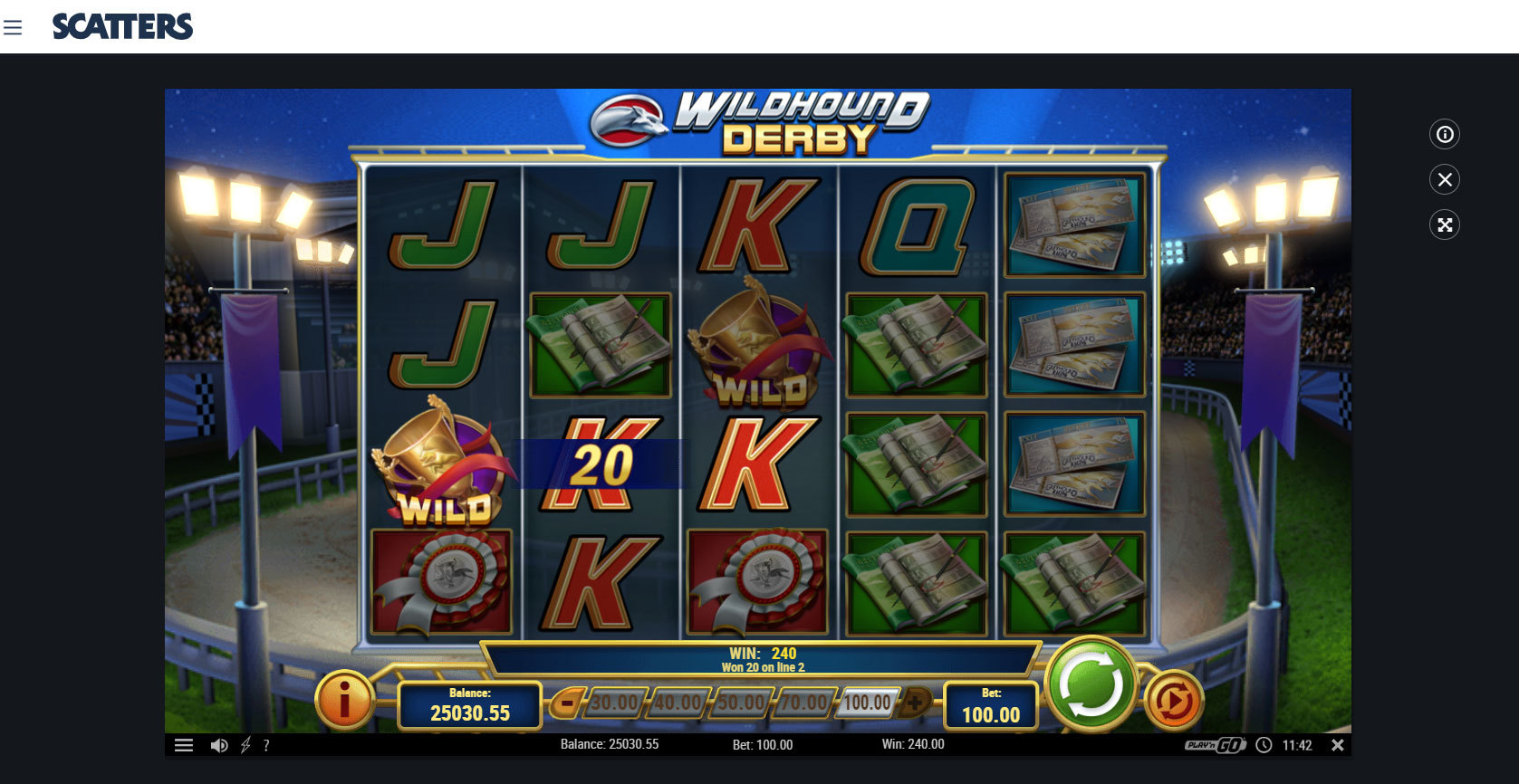 Play Wildhound Derby Online Slot at Scatters Slots Casino