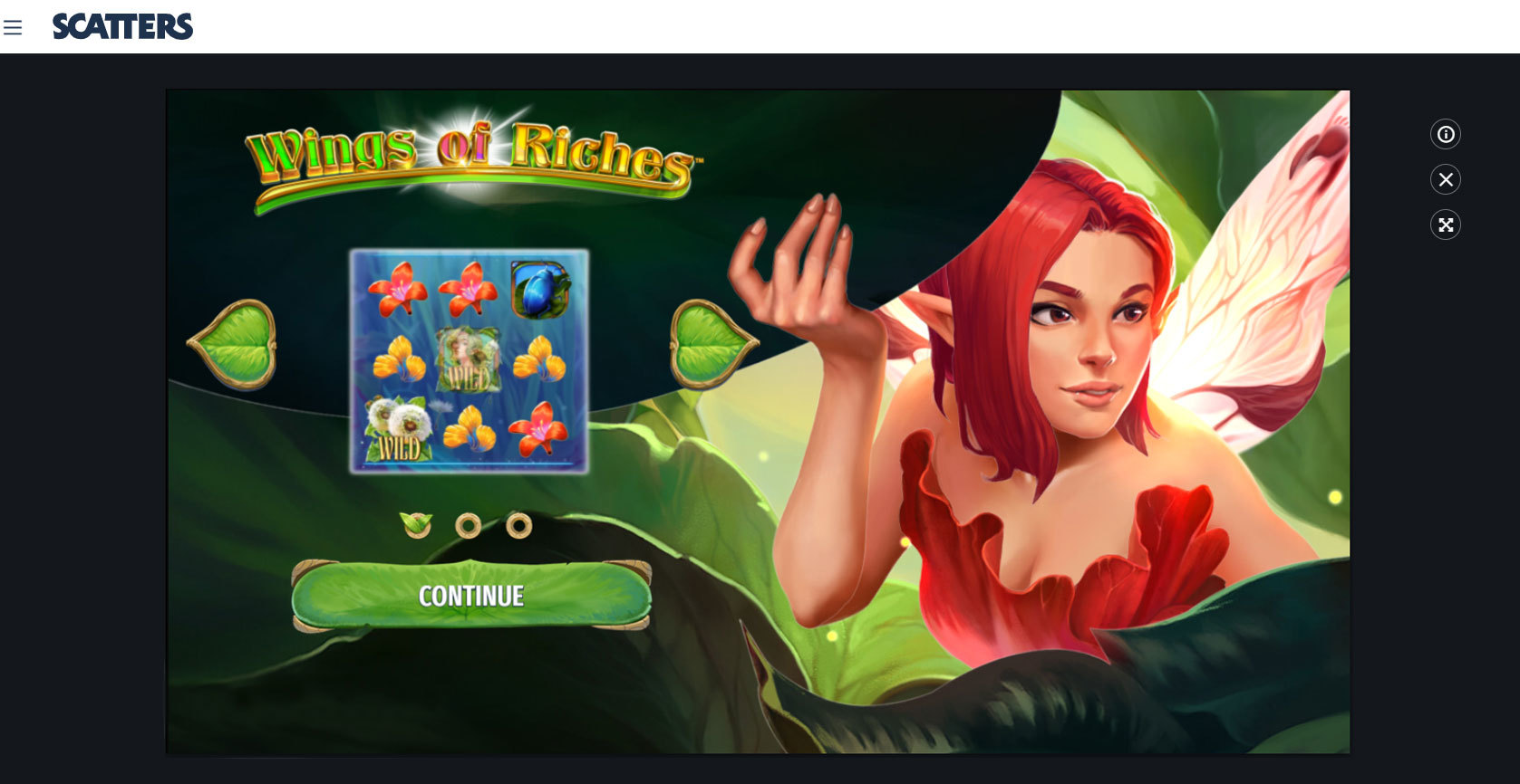 Wings of Riches Online Slot Games at Scatters Casino