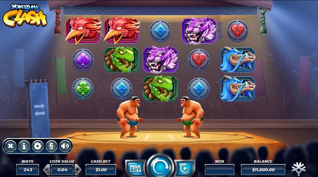 Yokozuna Clash Online Slot - Scatters Casino