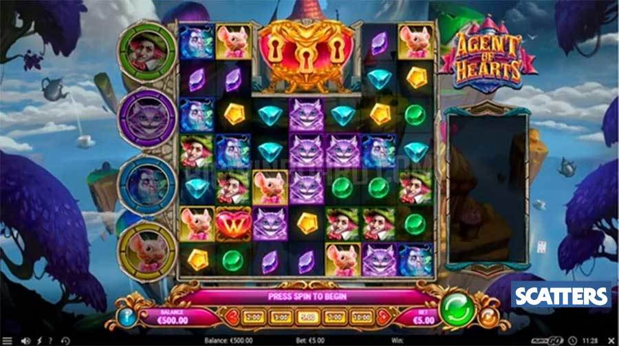 Agent of Hearts Slot by Play'n GO - Scatters Casino