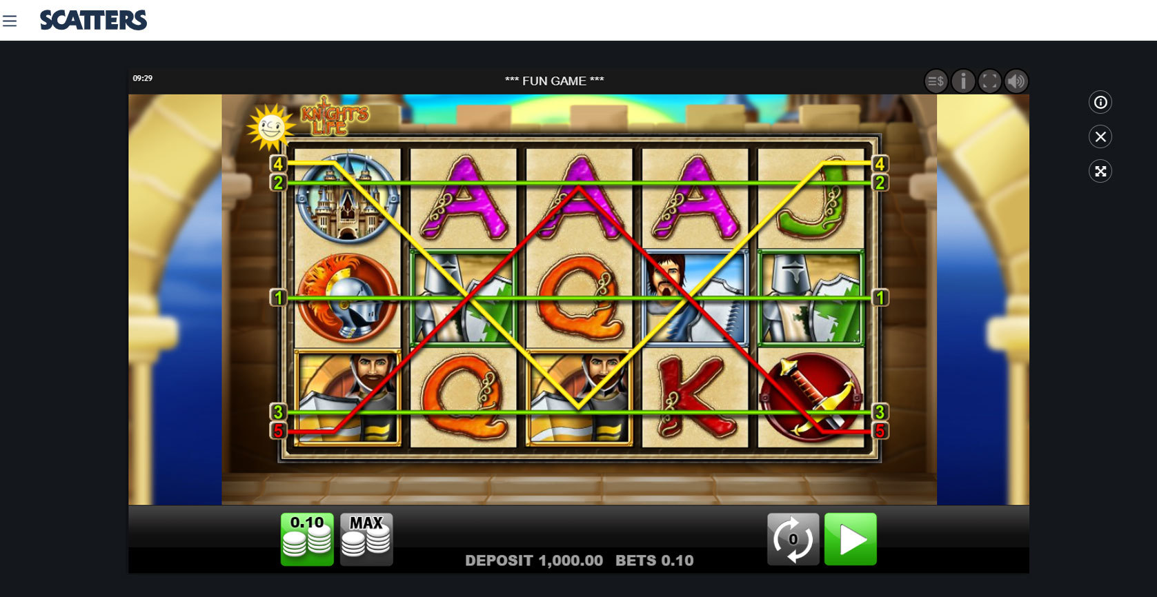 Play Knight's Life Slot by Merkur Free or Real Money at Scatters Casino