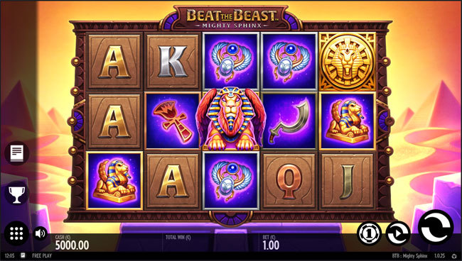 Mighty Sphinx Online Slot by Thunderkick - Scatters Casino