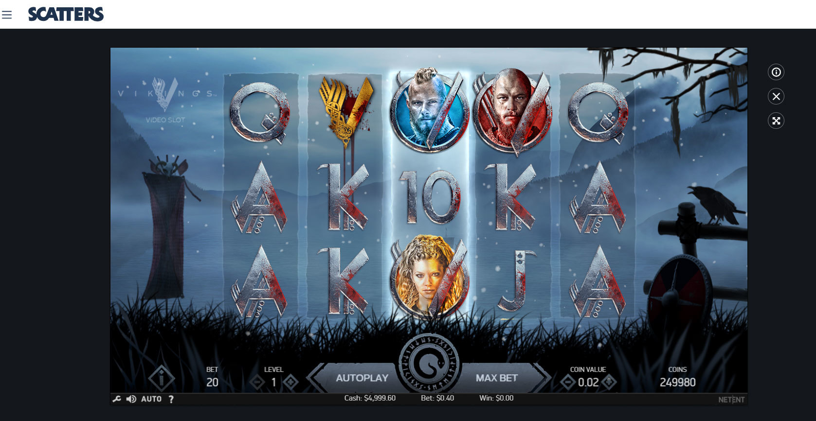 Play Vikings Slot by Netent for Free or Real Money at Scatters Casino